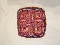 画像1: アンティーク刺繍 ビーズワーク 布(I-PU-GJ10)
