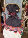 ラバリ刺繍 アンティーク 巾着BAG(I-BAG-LAB12)