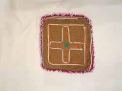 画像1: アンティーク刺繍 ビーズワーク 布(I-PU-GJ9)