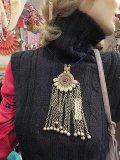 アフガニスタン vintage silver gypsy ネックレス (I-AF-VACC)