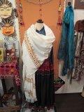 グジャラート 裾刺繍ウール ショール(I-KBSL)